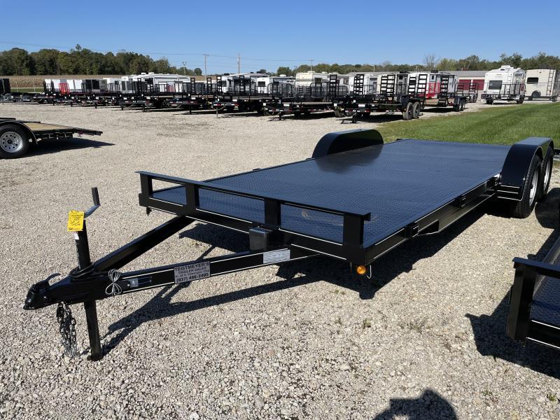 20' Steel Floor Car Hauler w/ ramps - dove
