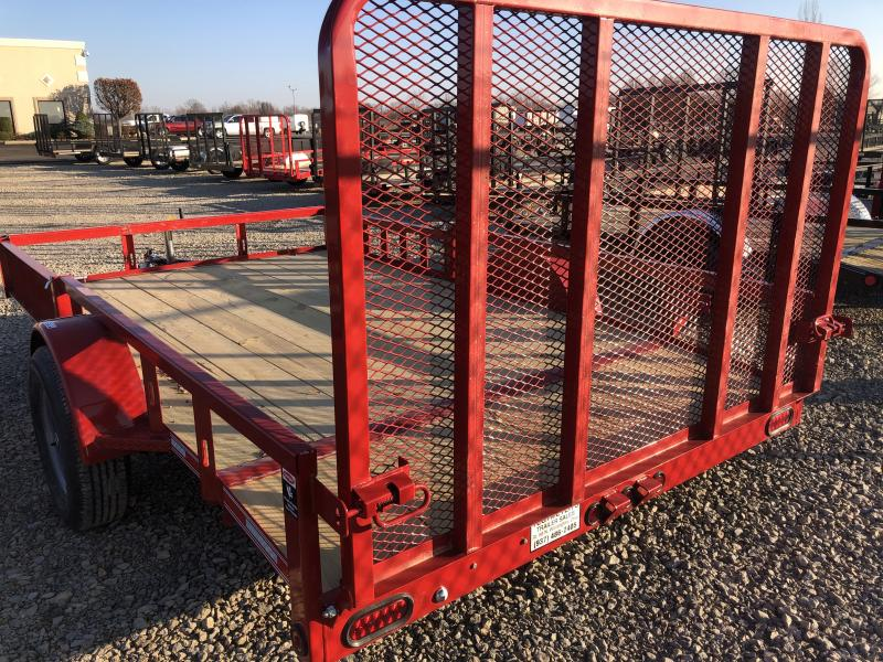 7x12 Utility Trailer w/ Rear Gate w/ Side loading ramps