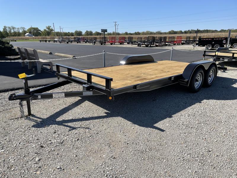 P&T Trailers 18' Wood Floor Car Hauler w/ ramps