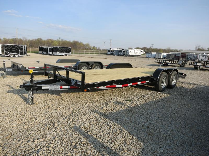 Lone Wolf Trailers 18' Wood Floor Car Trailers w/ ramps - 9990 GVW - BRAKE