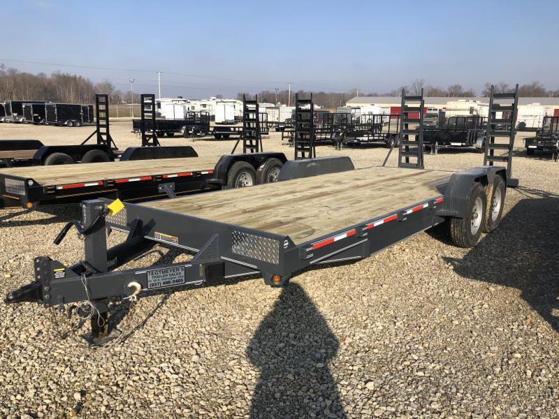 7x20 Flatbed Tandem Axle w/ Ramps