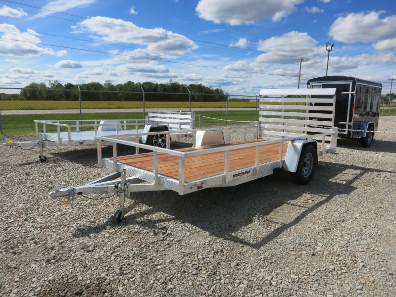 Sport Haven 6x14 Single Axle Aluminum Utility Trailer with Rear Gate