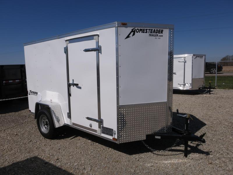 Homesteader 5x10 SA Enclosed Trailer w ramp door - Side wall vents - D Rings