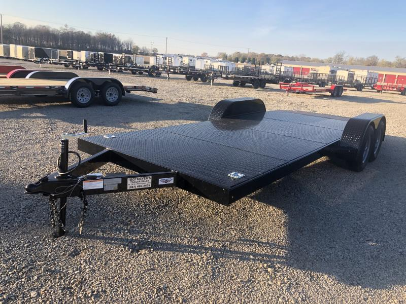 20' Steel Floor Car Trailers w/ Ramps