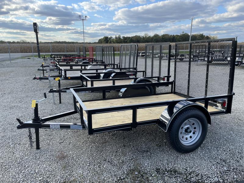 P&T Trailers 5x8 Single Axle Utility w/ Rear Gate