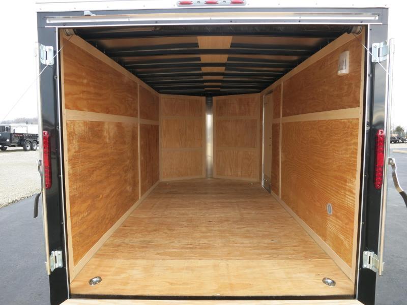 Homesteader 7x16 Enclosed Trailer w/ Ramp Door - Side Wall Vents - D Rings - Side Door