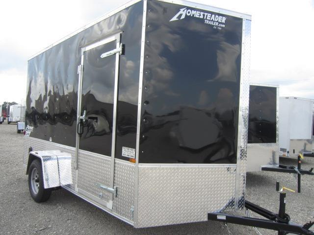 Homesteader 7x12 SA Enclosed Trailer w/ Ramp Door - D Rings - Extra hght
