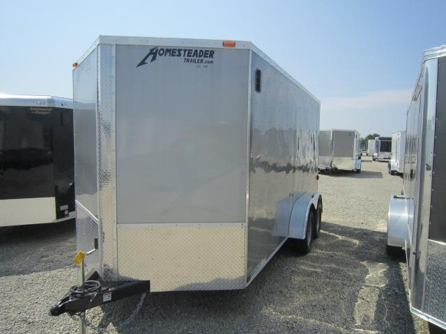 Homesteader Trailers 7x14 Enclosed Trailer w/ Ramp Door - Vents - Drings