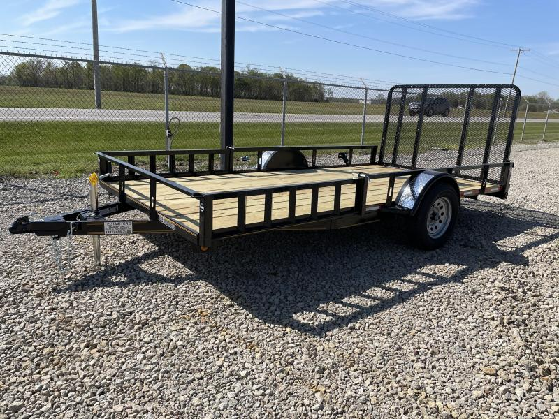 7x14 Utility Trailer w/ Rear Gate w/ Side loading ramps