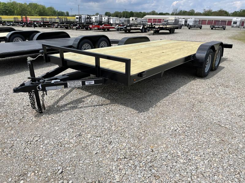 18' Wood Floor Car Trailers w/ Ramps