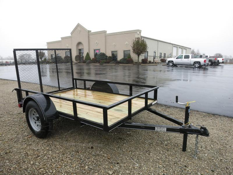 Lone Wolf Trailers 5x8 Utility Trailers Single Axle w/ Rear Gate