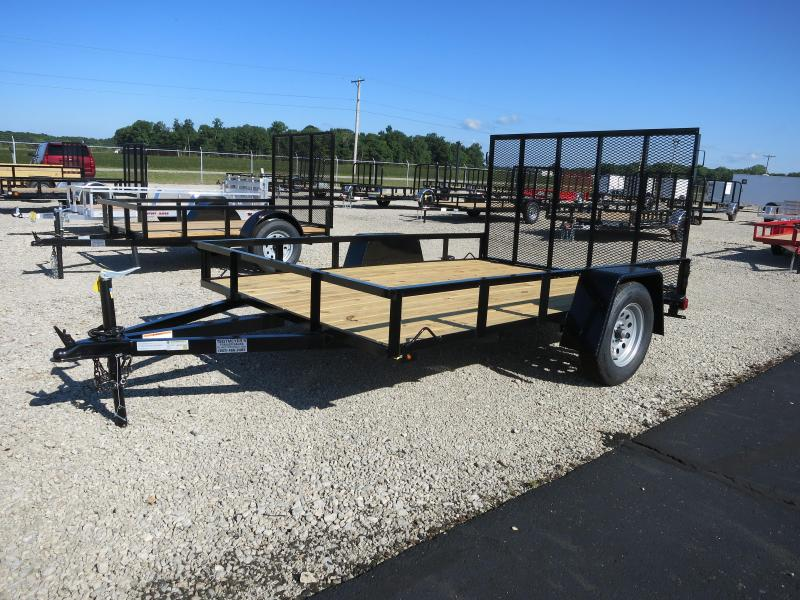7x10 Utility Trailers w/ Rear Gate - Treated Floor