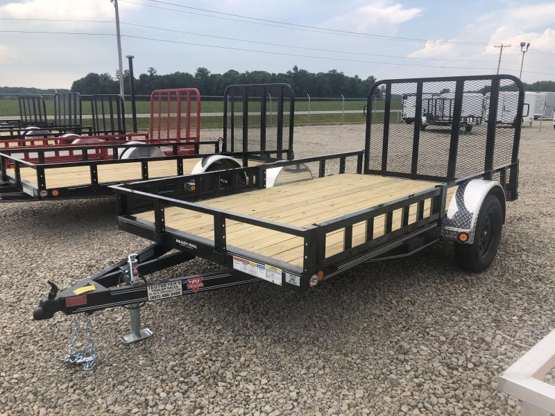 PJ Trailers 6x12 Utility Trailers w/ Gate - side loading ramps