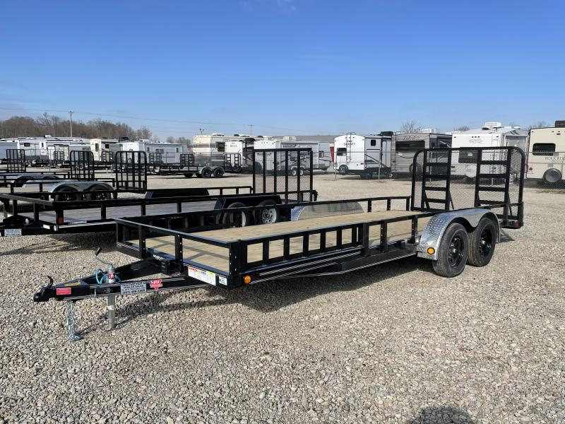 PJ Trailers 7' x 20' Utility Trailer w/ HD Gate - ATV RAMPS