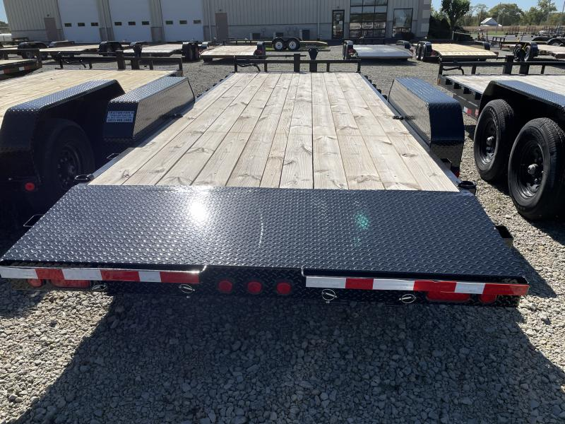 PJ Trailers 20' Equipment Trailer w/ Stand up Ramps