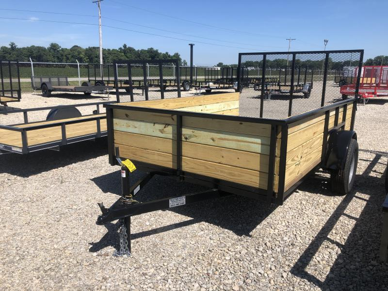 6x10 Utility Trailer High Sides and  Gate