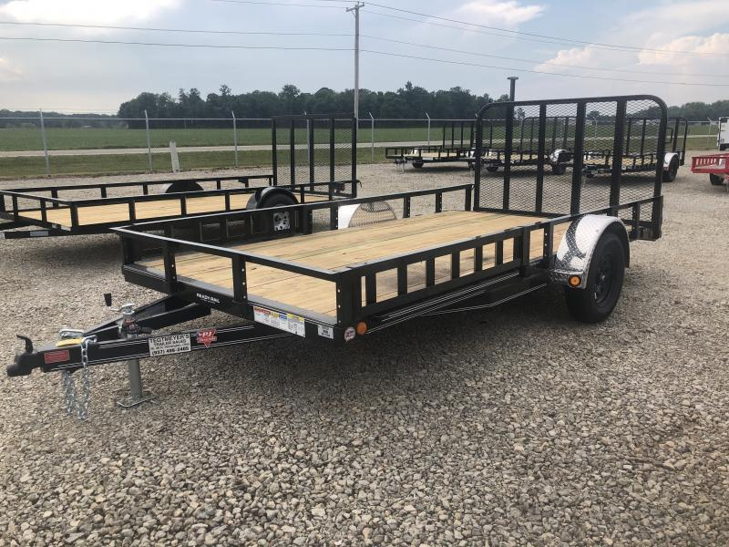 PJ Trailers 7x14 Utility Trailers w/ Gate & Side Loading Ramps
