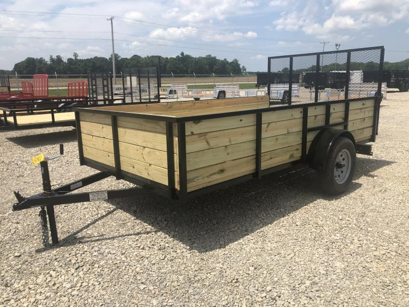 6x12 Utility Trailer High Sides & Gate