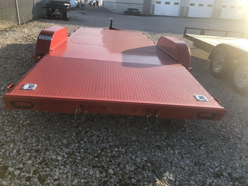 18' Steel Floor Car Trailers w/ Ramps