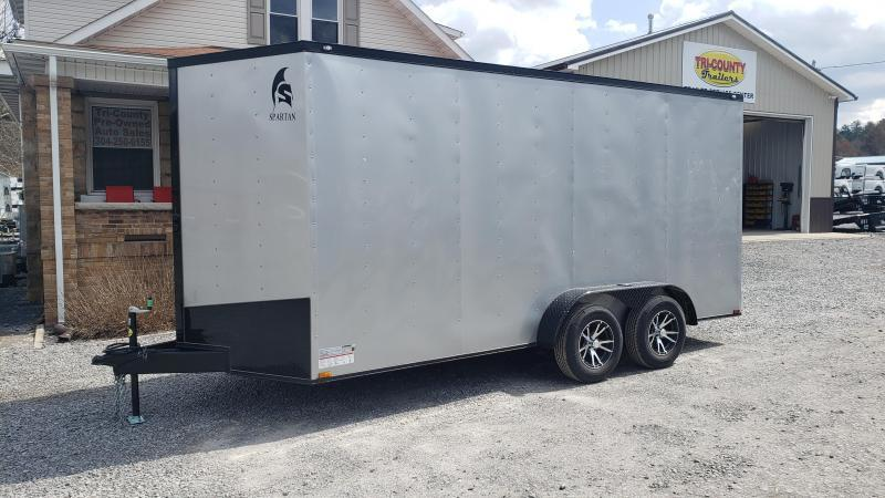 Spartan Cargo 7X16 Enclosed  W/ Blackout Package
