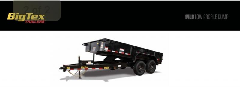 "2021 Big Tex Trailers 14LD- 83"" x 14' 14K Dump Trailer - No Tarp"