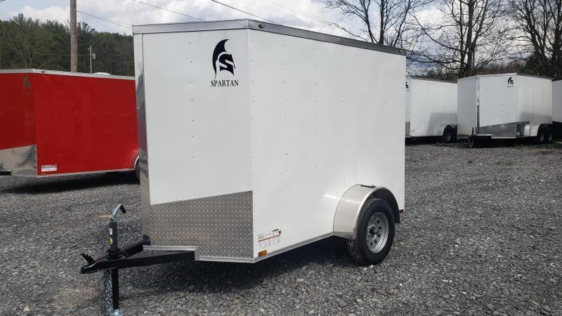 Spartan Cargo 5 X 8 3K Enclosed White
