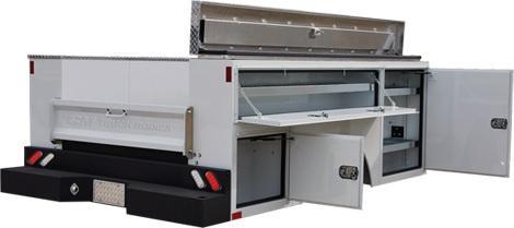 2020 CM Truck Beds SB Steel Service Body Long Bed Single Rear Wheel