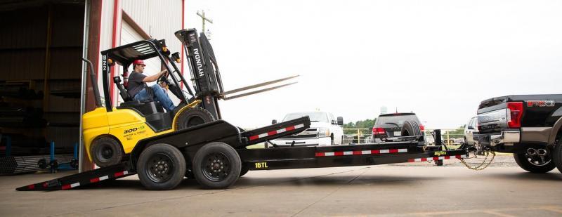 2022 Big Tex Trailers 16TL- 16' + 4' 17,500 GVW Tilt Equipment Trailer