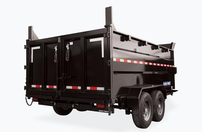 """2021 Sure-Trac 82"""" x 14' - 14K Telescopic Dump Trailer with 4ft Sidewall"""