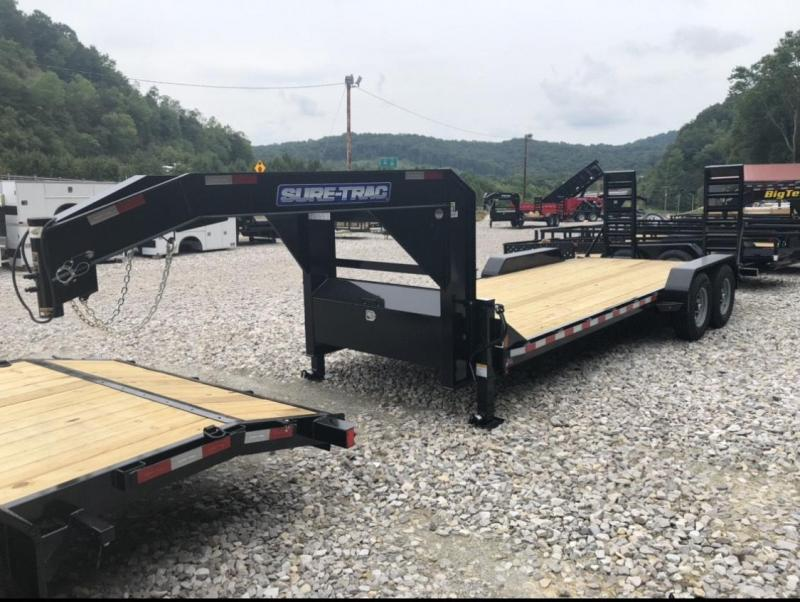 "2022 Sure-Trac 82"" x 20' - 16k Gooseneck Equipment Trailer"