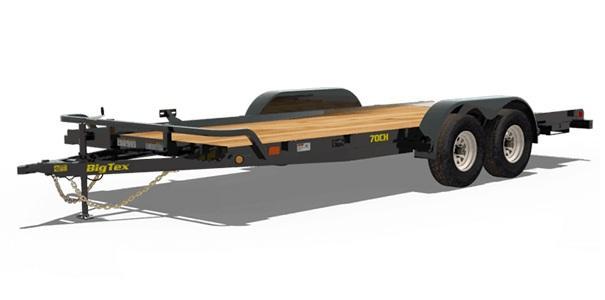 2021 Big Tex Trailers 70CH-16 Car Hauler Flat Deck No Dove Tail
