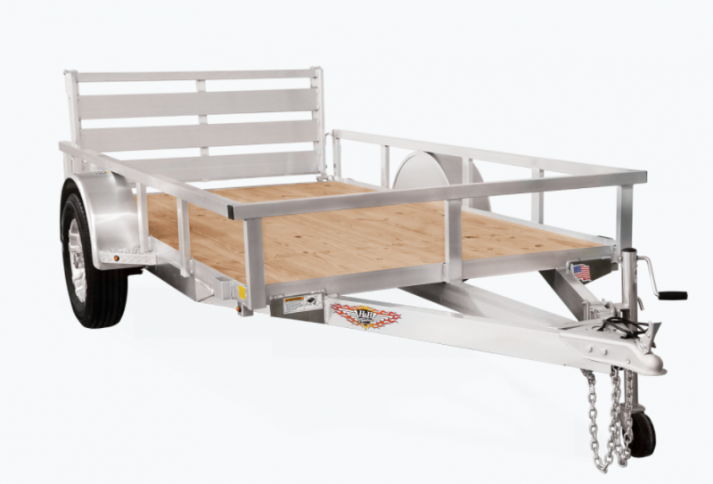 2021 H and H Trailer 76x12 Aluminum Rail Side Utility Trailer Side Gate 3K Idler (H7612RSASG-030) Utility Trailer