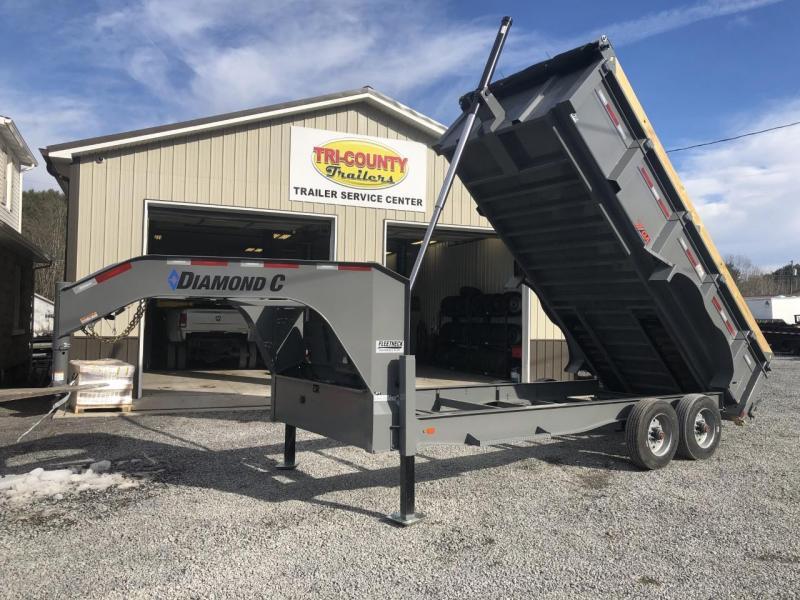 2021 Diamond C Trailers LPT 210 - 20K Gooseneck Dump Trailer