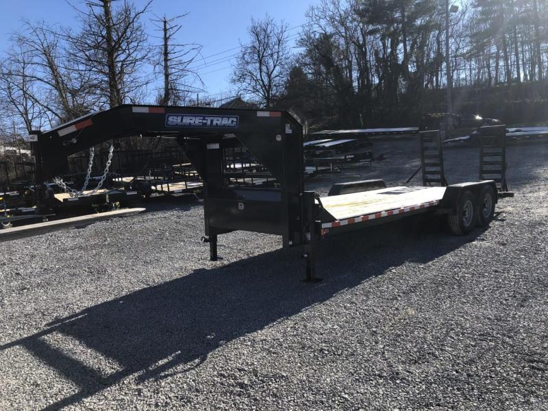 2021 Sure-Trac 7 x 24 (22+2)  14K Gooseneck Equipment Traile