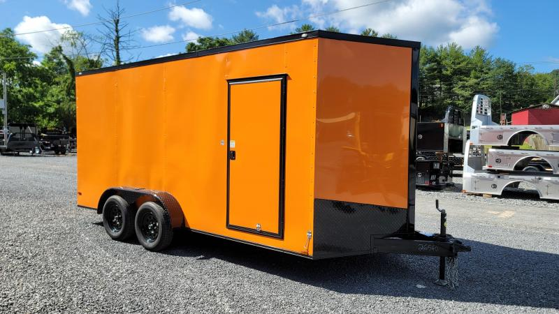 2021 Spartan Cargo 7X16TA Enclosed Cargo Trailer ORANGE/BLACK