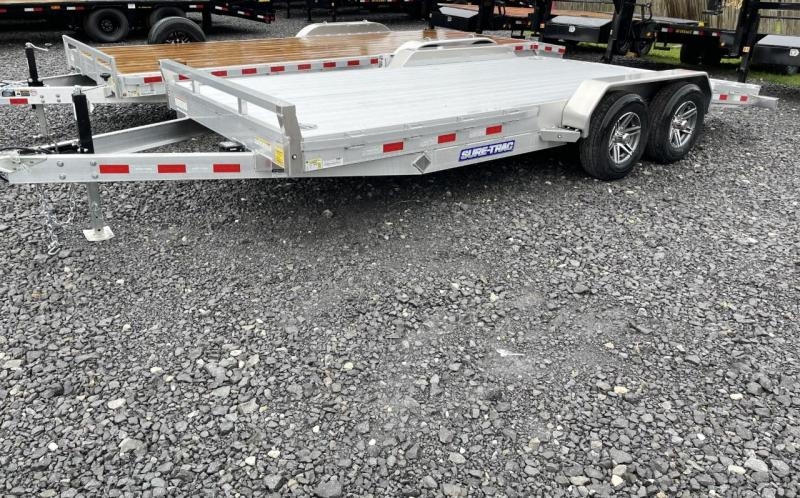 "2021 Sure-Trac 82"" x 18 - 10K All Aluminum Car Hauler"