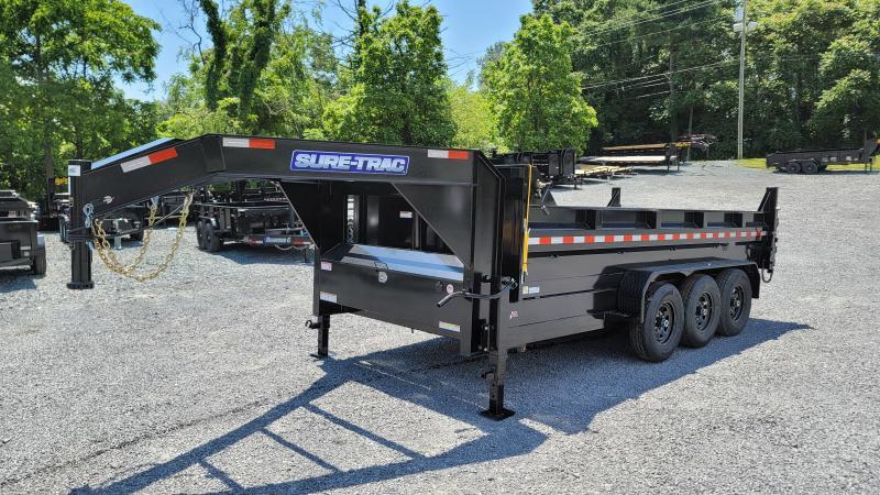 2021 Sure-Trac 82 IN x 16 HD Low Profile Gooseneck Tri-axle 21K