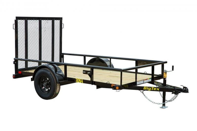 2022 Big Tex Trailers 30SA- 5' x10' Utility Trailer - 2,990 GVW