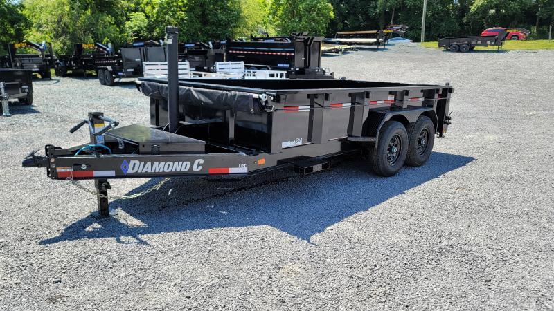 "2021 Diamond C LPT 207 82"" x 14' 14,900 GVW Telescopic Dump Trailer"