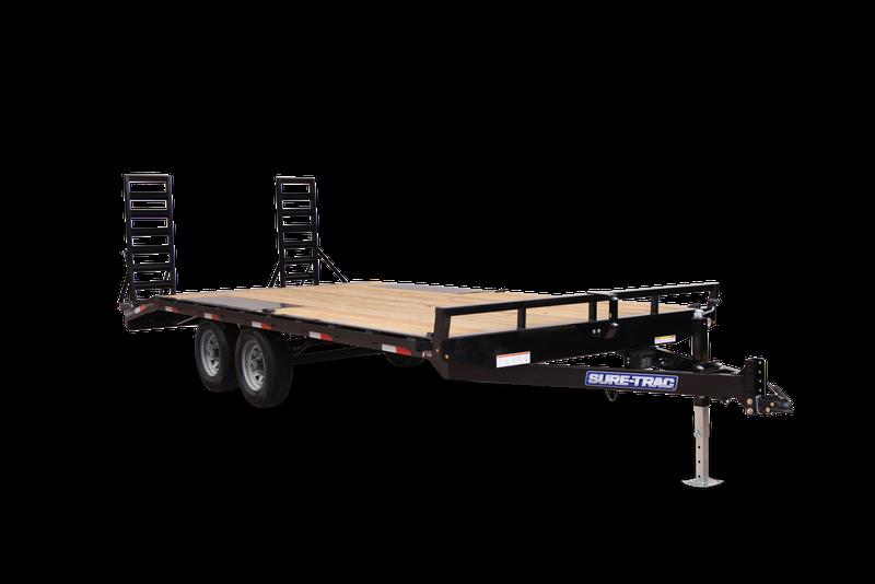 2022 Sure-Trac ST8218ETFDB140 Equipment Trailer