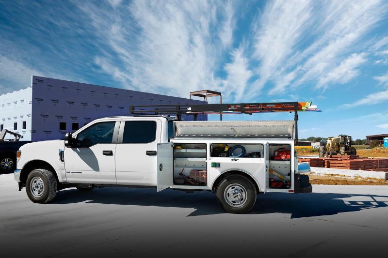 """2021 CM Truck Beds Steel Service Body - 98"""" x 78"""" - Long Bed Single Rear Wheel Truck - Ladder Rack Not Included"""