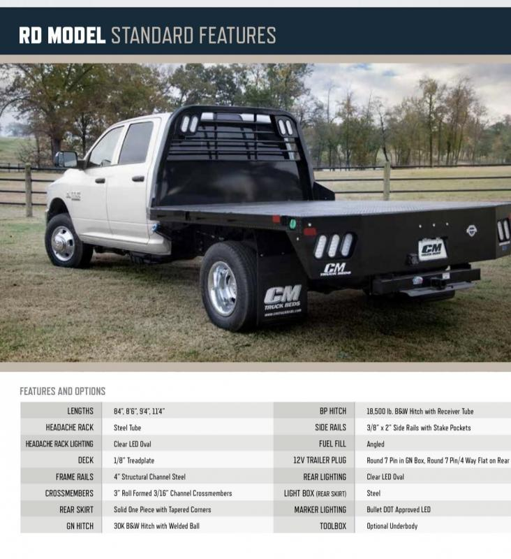"""2021 CM Truck Beds RD 8'6"""" x 97"""" Ram/Ford Dually"""