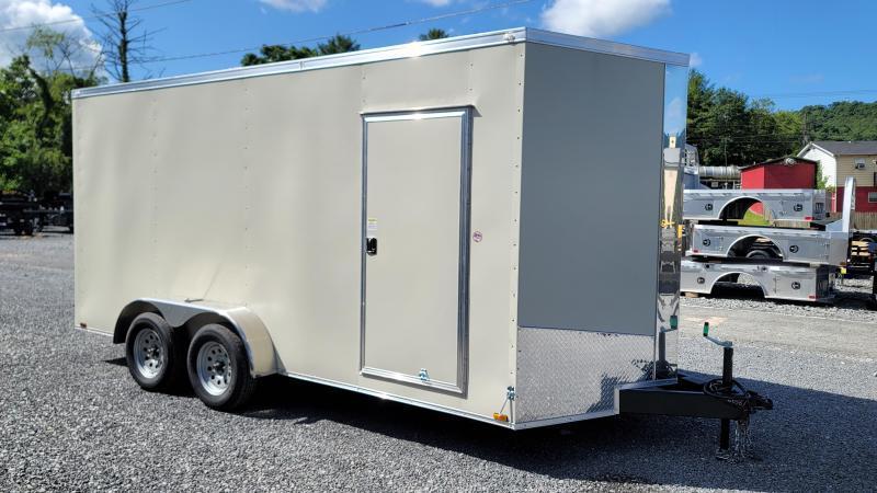 2021 Spartan Cargo 7X16TA Enclosed Cargo Trailer SANDSTONE