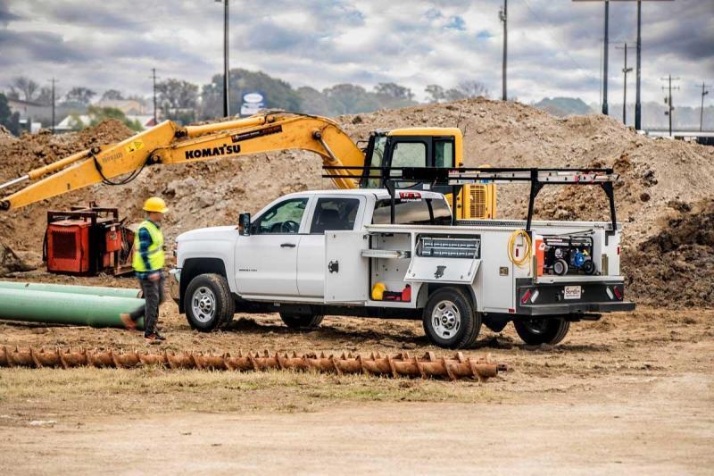 """2020 New Steel CM Service Body 98"""" x 78"""" Long Bed Single Rear Wheel Service Body"""