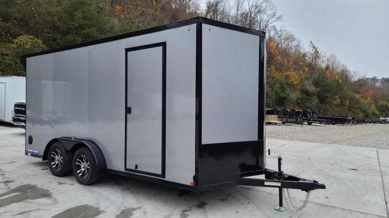 Sure-Trac STWMP9016TA Motorcycle Trailer Silver Frost