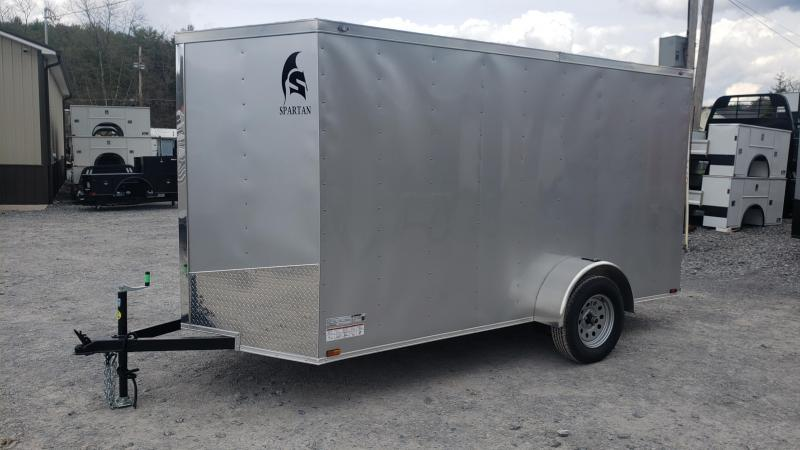 2020 Spartan Cargo 6X12 3K Enclosed Trailer Silver