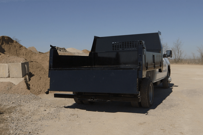 """CM Truck Beds Dump Bed 11' x 97"""" With Fold Down Sides"""