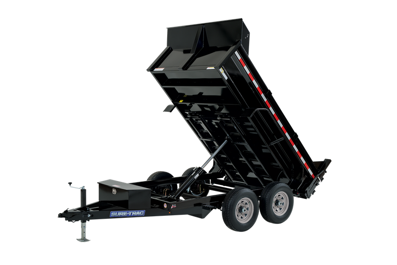 "2021 Sure-Trac 72"" x 10' Telescopic 10K Dump Trailer"
