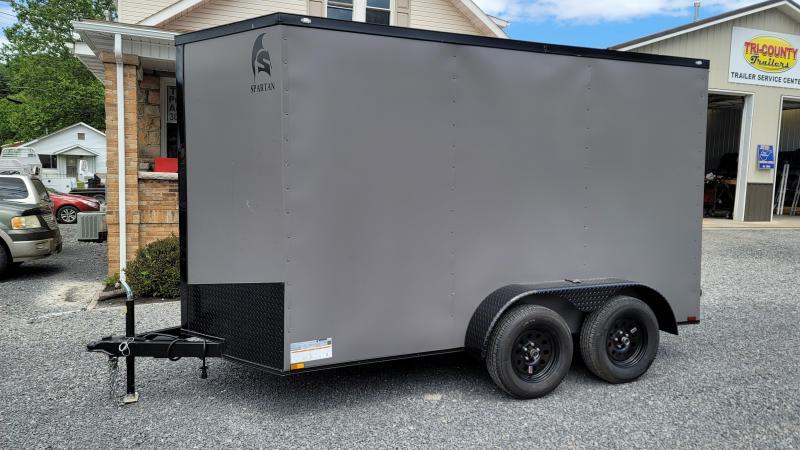 2021 Spartan Cargo 2021 SPARTAN 6X12TA CHARCOAL GRAY 7K Enclosed Cargo Trailer