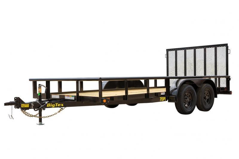 """2021 Big Tex Trailers 70PI-83"""" x 18' Utility Trailer"""